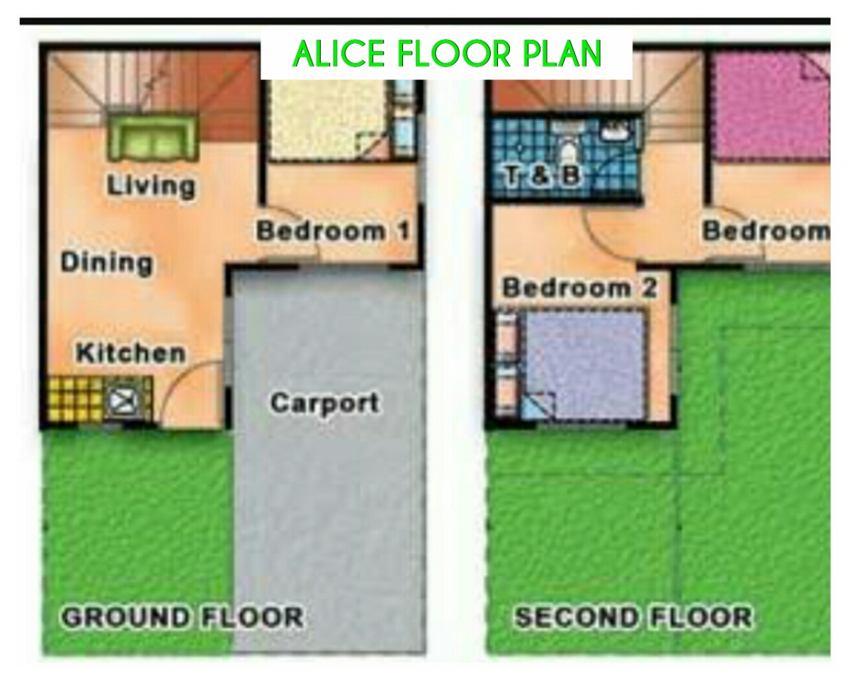 Alice Townhouse Floor Plan Lancaster New City 6 5km Away From Cavitex Kawit Toll Exit Alapan 2a Imus Cavite